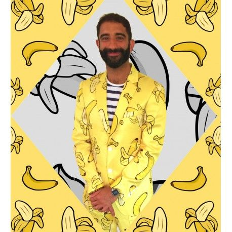 Banana Party suit, stag suit, bachelor party suit, crazy suit, call it what you will but if you want to make people smile get yourself into a Fruitysuit!