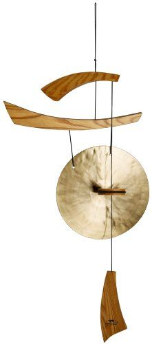 asian wind chimes | ... Shui Gifts, 34-Inch Japanese Zen Emperor's Oriental Brass Gong Chimes