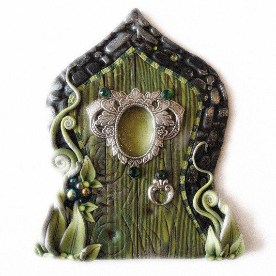 The Green Fairy Fairy Door Pixie Portal Absinthe by Claybykim, $24.00