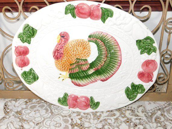 Turkey Platter ,Platter, Turkey Platter, Transfer Ware, Earthenware