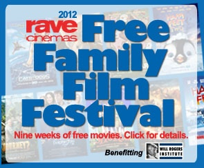 Rave Cinemas Free Family Films has four participating locations this year in the Cincinnati area! Free PG-rated movies play on Mondays and Thursdays starting June 4th through August 9th at 10:00am.