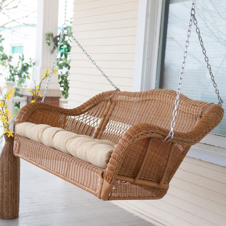 Have to have it. Casco Bay Resin Wicker Porch Swing $228.98