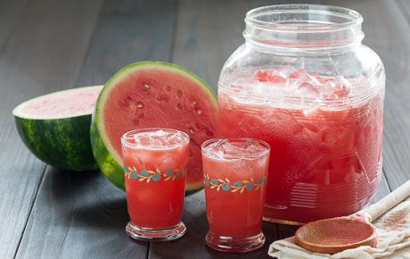 "This light, refreshing drink popularized in Mexico, is a terrific thirst quencher on a hot summer day. The trick to making agua fresca (Spanish for ""fresh water"") is to infuse the water with fruit essence without turning it into a smoothie or a slushy drink."