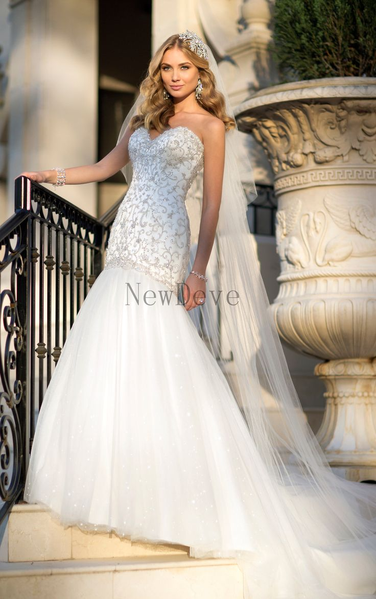 69 best wedding dresses images on pinterest wedding dressses gorgeous mermaid beaded sweetheart neckline tulle court train bridal wedding dresses newdeve ombrellifo Choice Image