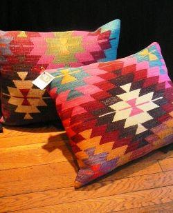 Patrician Design Retail Boutique   Kilim Pillows - Woven Rug Pillows