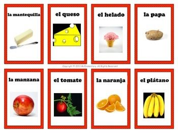 10 best food vocabulary images on pinterest spanish classroom spanish food vocabulary flashcards forumfinder Choice Image
