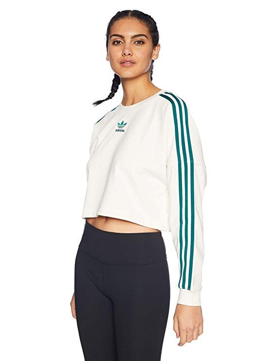 3f84367da adidas Originals Women's Adibreak Cropped Sweater, Chalk White, S ...