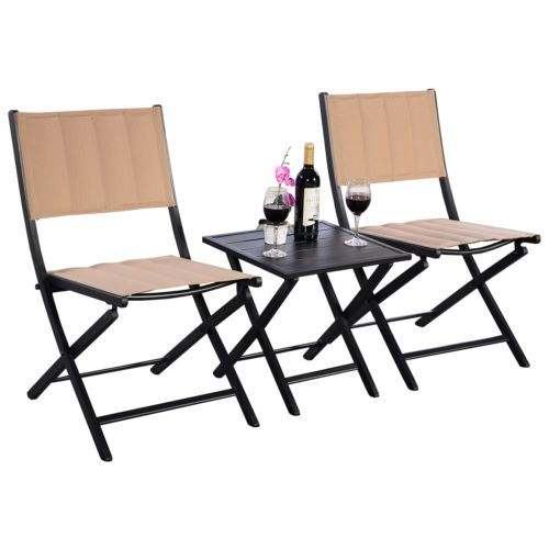 Beautiful Furniture Outdoor Patio Folding Square Table Chairs Set Bistro Garden Home  Decor Fall Ideas On A