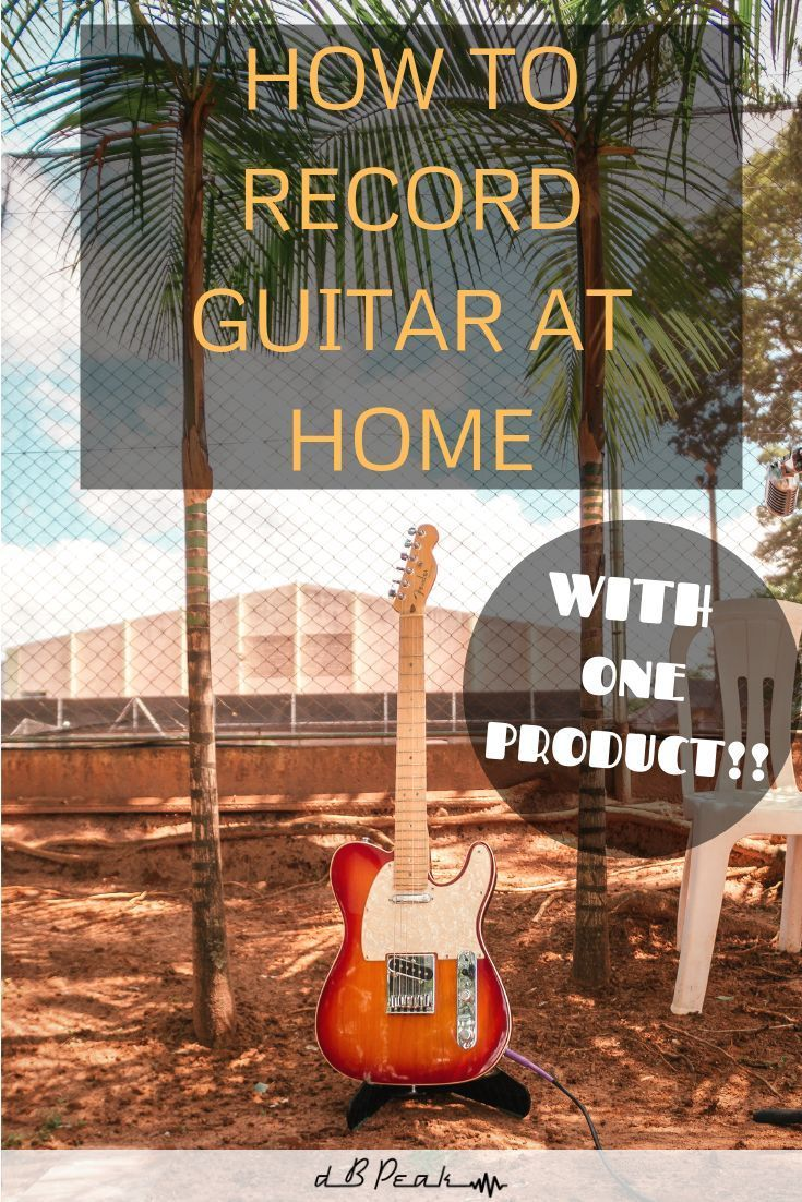 Create A Guitar Recording Studio With One Product How To Record Guitar At Home Record Guitar Recordingstudio Hom Learn Guitar Songs Guitar Studio Guitar