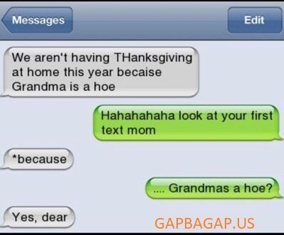 #Hilarious Text About Grandma vs. Thanksgiving