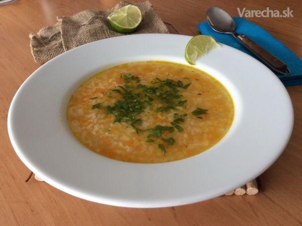 Marocká polievka z červenej šošovice (fotorecept)