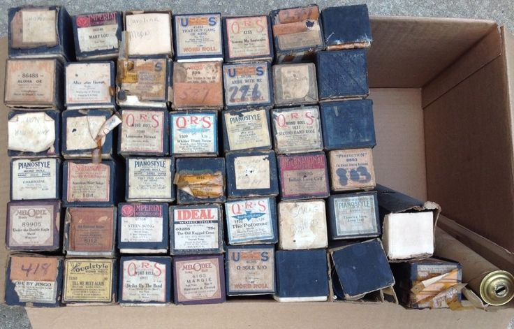 VINTAGE PLAYER PIANO ROLLS LOT OF 45 #QRS