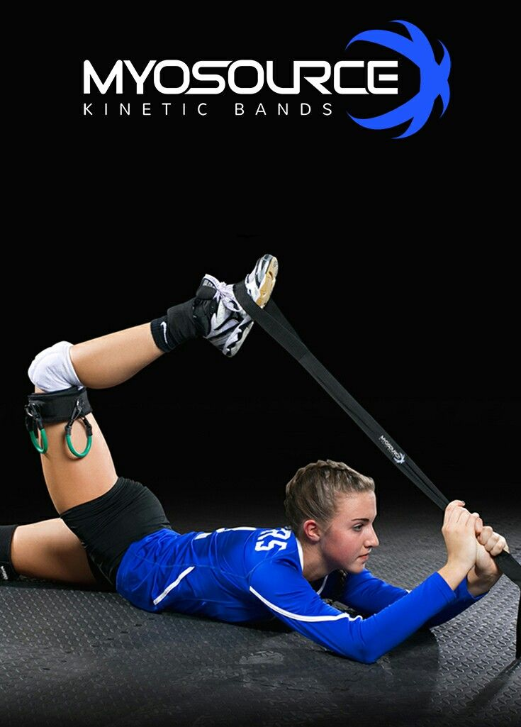 Volleyball Training: Fast movement on the court requires flexibility, balance, and body control. Use the Athletic Stretching Strap before and after your volleyball workouts to improve your game. Free with purchase of Kinetic Bands. Use coupon code PINIT15 for 15% off volleyball training equipment.
