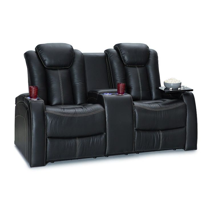 Seatcraft Republic Home Theater Seating Power Recline - Loveseat w/ Storage Console,