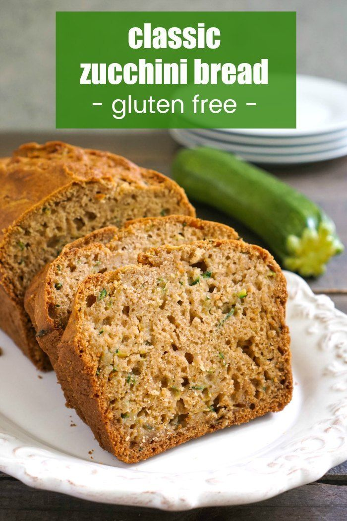 This Gluten Free Zucchini Bread Is A Delicious Easy Snack To Make It Tastes Just Lik Gluten Free Zucchini Bread Gluten Free Zucchini Gluten Free Recipes Easy