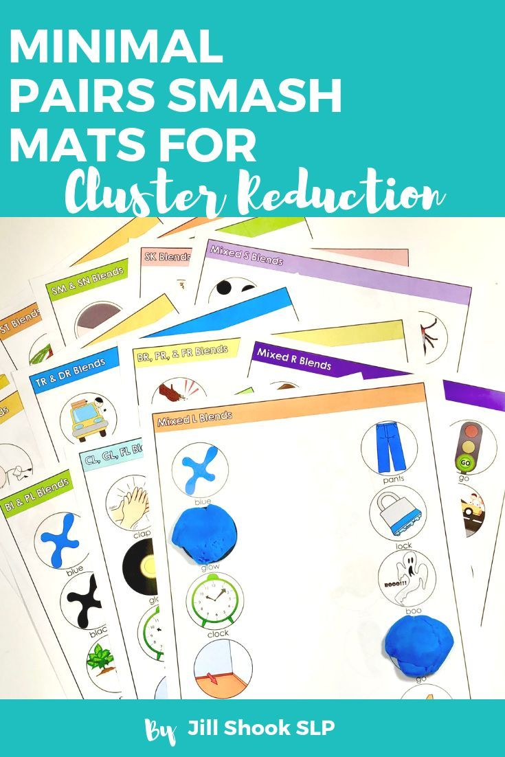 Minimal Pairs Smash Mats For Articulation Phonology Cluster