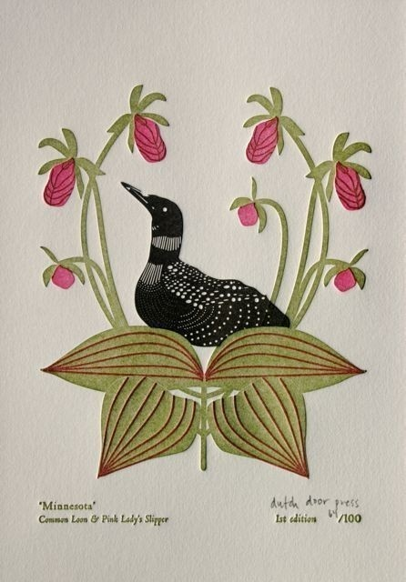 Loon and lady slippers