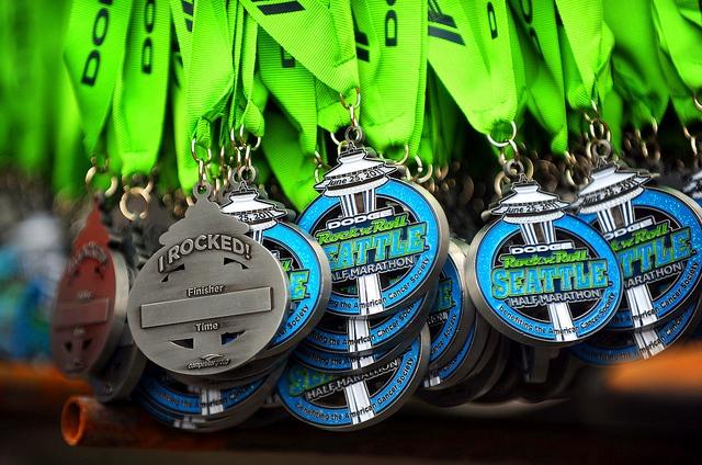2011 Seattle Half Marathon medal -- this year earning the full marathon medal
