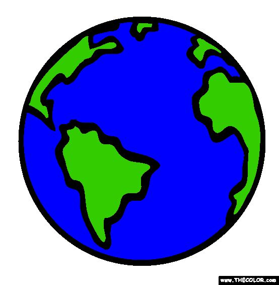 Planet earth online coloring page preschool pinterest for Internet plante