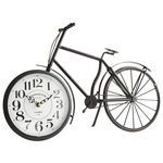Antiqued Black Bicycle Clock ... quirky & I kind of like it.