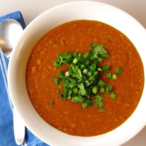 Spiced Coconut-Red Lentil Soup | Varied Food List | Pinterest