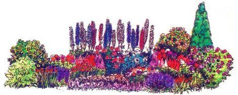 Цветник длительного цветения - Ландшафт - Клумбы