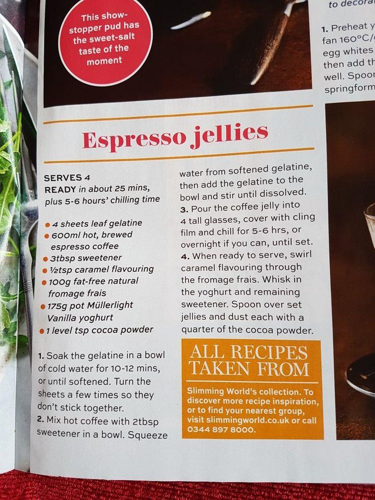 Slimming world espresso jellies
