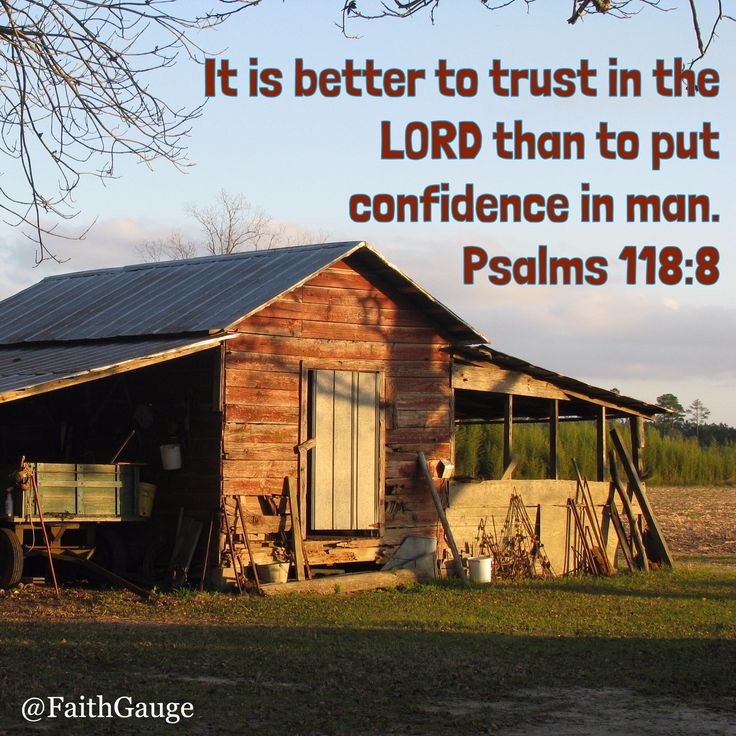 Psalms 118:8. NKJV.  Put your faith, confidence, and trust in God.  Man is weak and will eventually let you down.  God alone can be trusted.