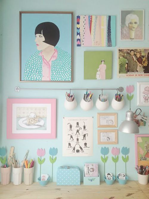 Heart Handmade UK: Craft Room Lovelies and beautiful Pastel Wall Art | Scathingly Brilliant Blog