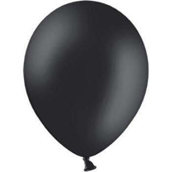 Ballon Zwart, 10 stuks zwarte ballonnen - Hieppp