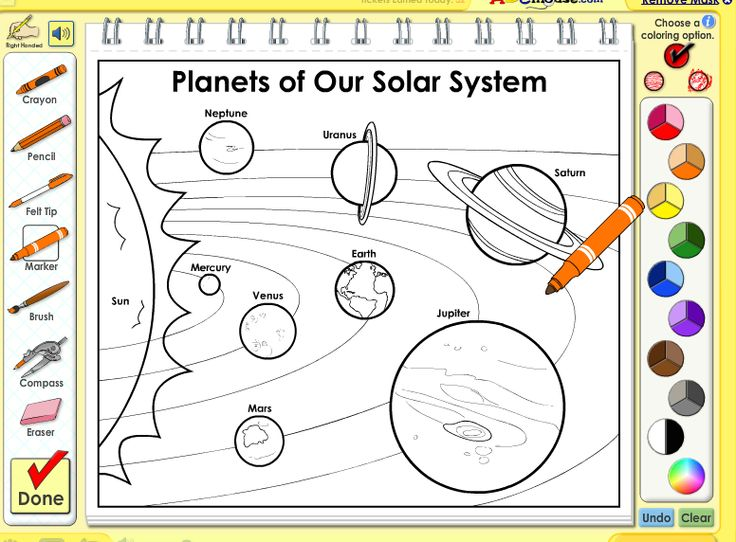 Solar System Coloring | Abc mouse, Solar system, Learn to read