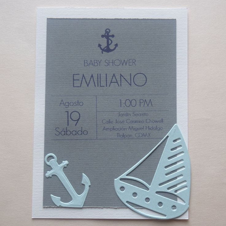 "Invitación para bautizo  ""Marinero"" #ondinecollection #bautizo #original #velerotravel #ancla"