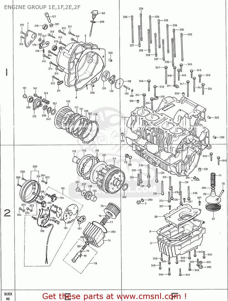 Honda CB400F (European Direct Sales) - ENGINE GROUP 1E,1F,2E,2F SCHEMATIC