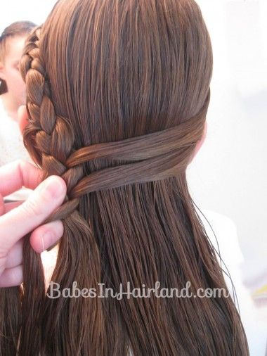 Half French Braid Hairstyle - BabesInHairland.com (8)