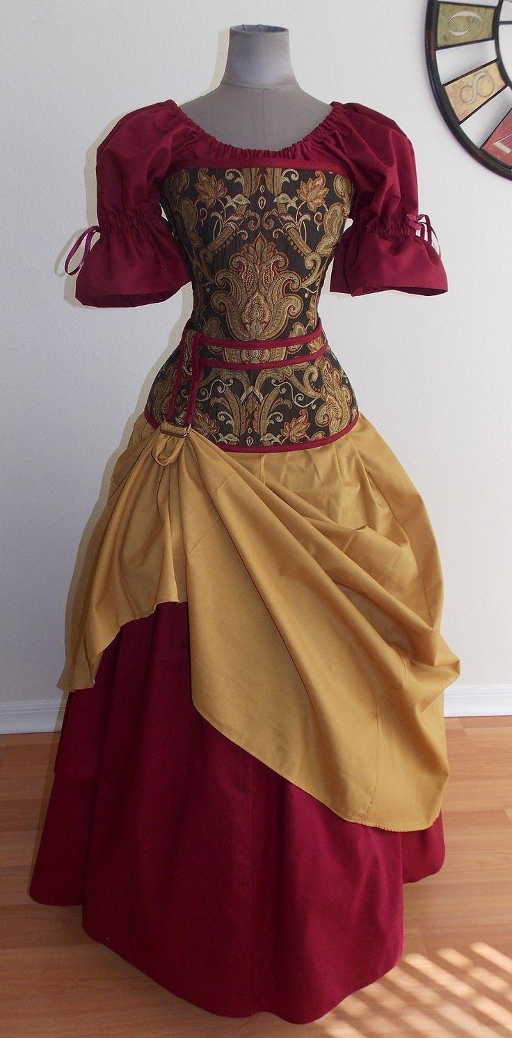 Alluring Set - corset medieval renaissance clothing
