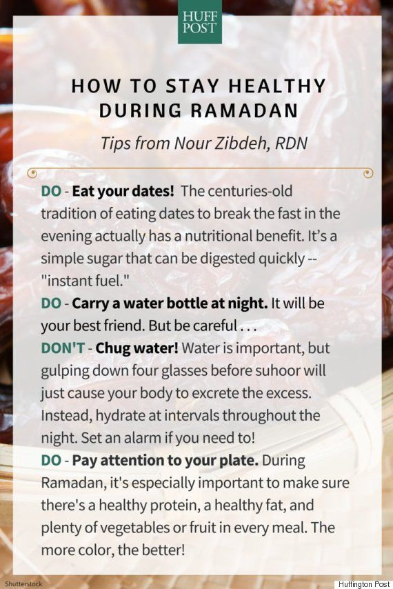 Helpful tips for how to stay healthy during Ramadan