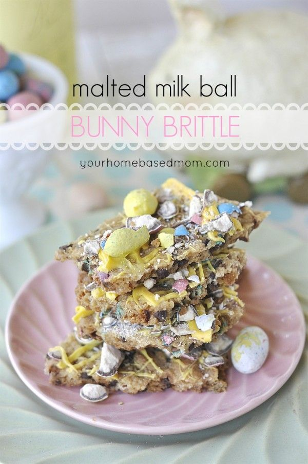 Malted Milk Ball Bunny Brittle: Holiday, Milk Ball, Sweet, Bunny Brittle, Easter Food, Bunnies, Ball Bunny, Easter Ideas