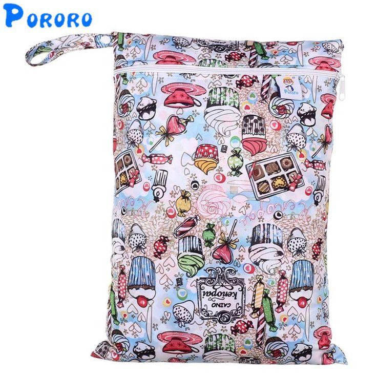>> Click to Buy << PUL Wet Bag Baby Waterproof Cloth Diaper Bag Single Pocket Zipper Print Reusable Baby Nappy Diaper Rubbish Wet Bag 30x40cm #Affiliate