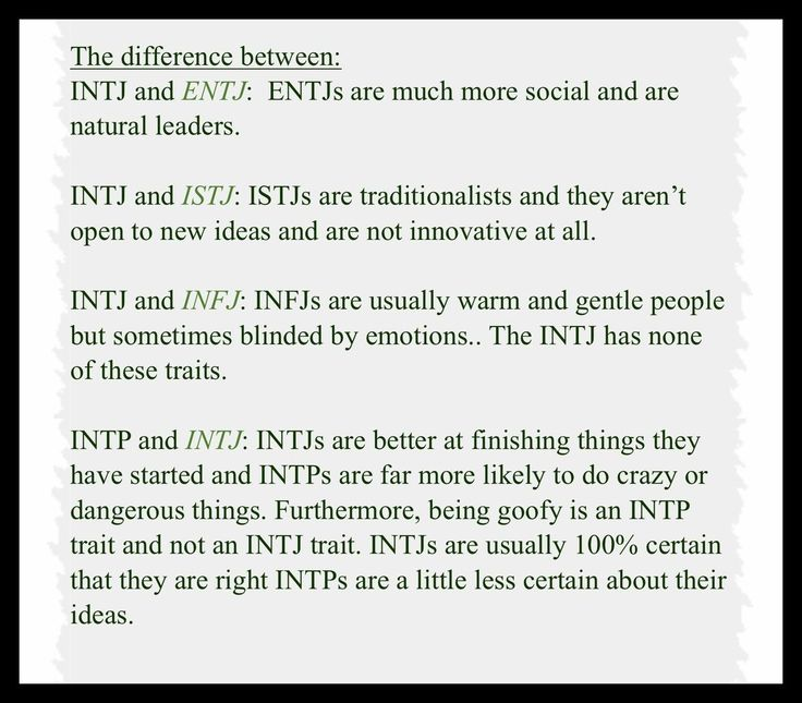 entj dating intj This section intj-entj relationship is about how these two personality types come together in a relationship.