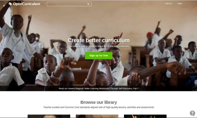 OpenCurriculum Looks To Foster Open-Source Education By Releasing Free Online Library | TechCrunch