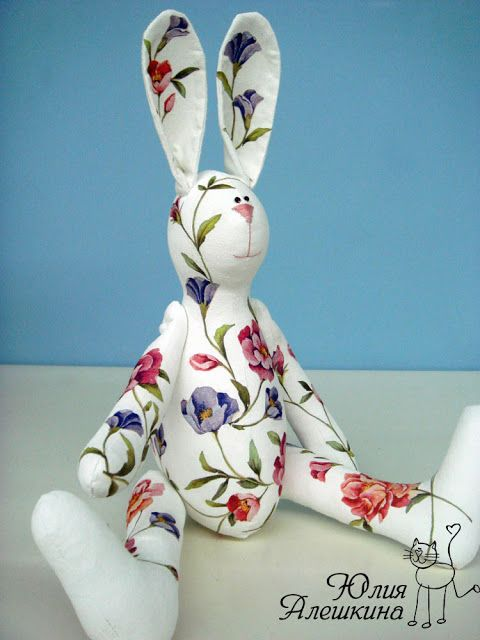 j-love the chintz and while but mostly the alert ears | Flower bunny