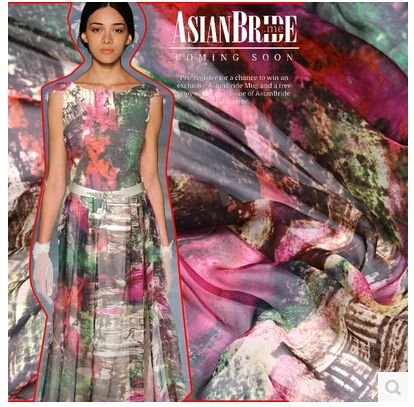 Шелк шифоновая ткань шелк ткань вручную своими руками печать ткань 6 шелк платье шарф ткань