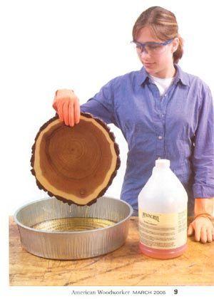 Wood Stabilizer Prevents Cracks
