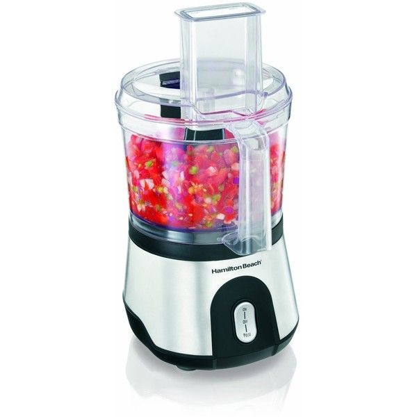 Hamilton Beach 10-Cup Food Processor with Compact Storage (70760) ($39) ❤ liked on Polyvore featuring home, kitchen & dining, small appliances, hamilton beach juice extractor, hamilton beach coffee maker, hamilton beach oven, hamilton beach and compact juice extractor