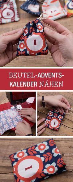 Nähanleitung für einen selbstgemachten Adventskalender / diy sewing tutorial for a fabric advents calendar via DaWanda.com
