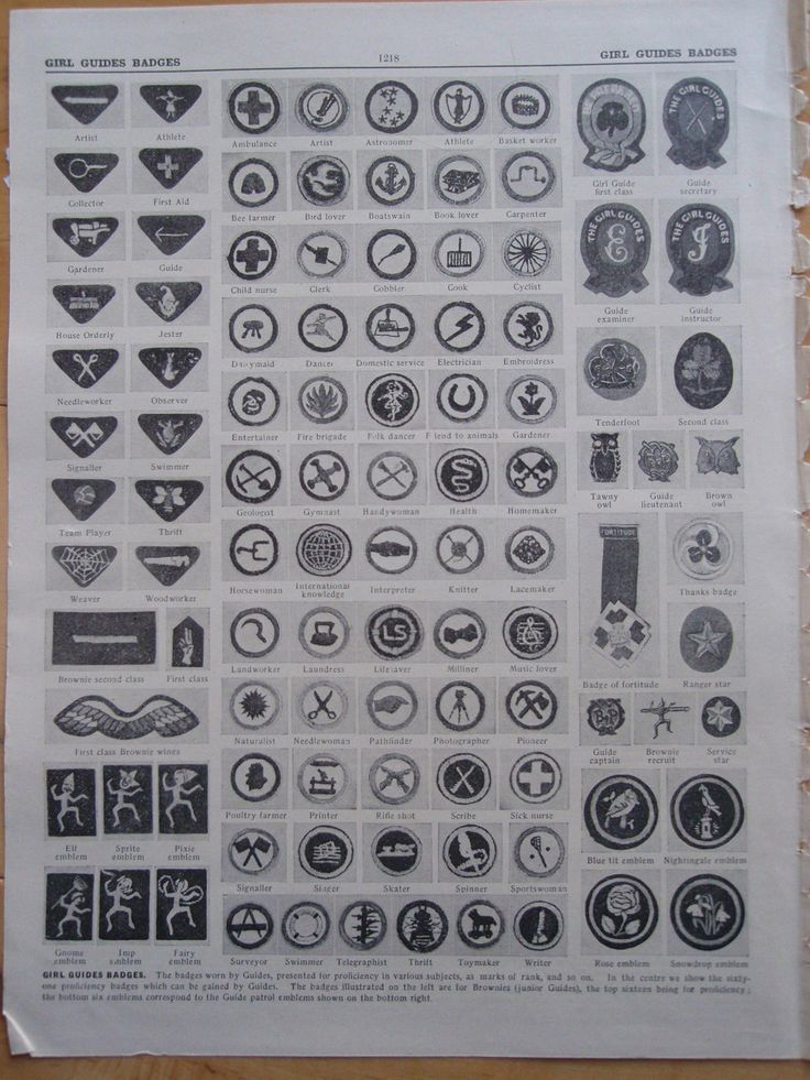 GIRL GUIDE BADGES old vintage retro print 1929  http://i.ebayimg.com/00/s/MTYwMFgxMjAw/z/oyEAAOSwU9xUS~fx/$_57.JPG
