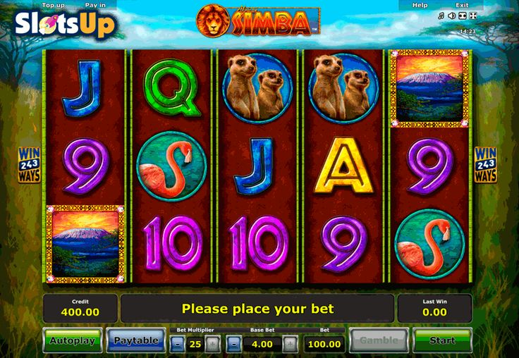 African Simba is a good game who prefer African nature! This game is developed by #Novomatic. This video slot machine features 5 reels and 243 paylines. Gameplay features include wild and scatter symbols, free spins, and multipliers.