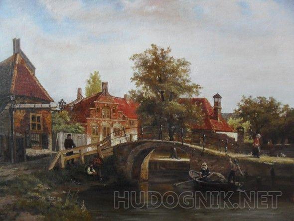 Голkандский пейзаж  Копия с картины голландского художника