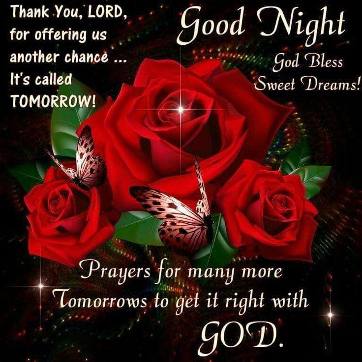 Good Night God Bless Sweet Dreams!