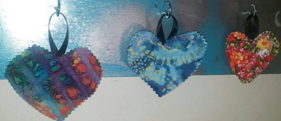 Check out this item in my Etsy shop https://www.etsy.com/listing/508556829/hanging-hearts-wall-decor-purple-blue